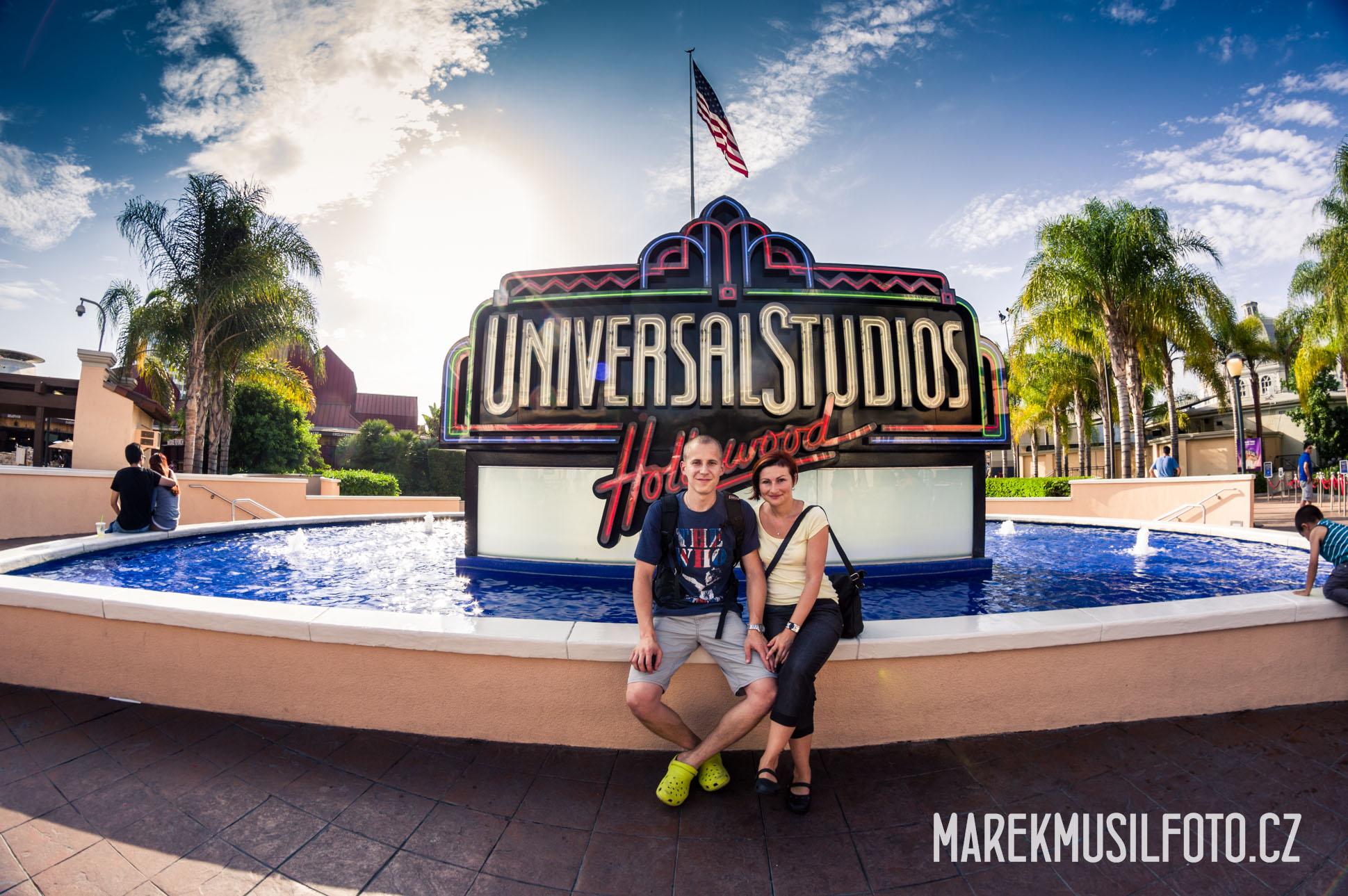 Nápis Hollywood Universal Studios