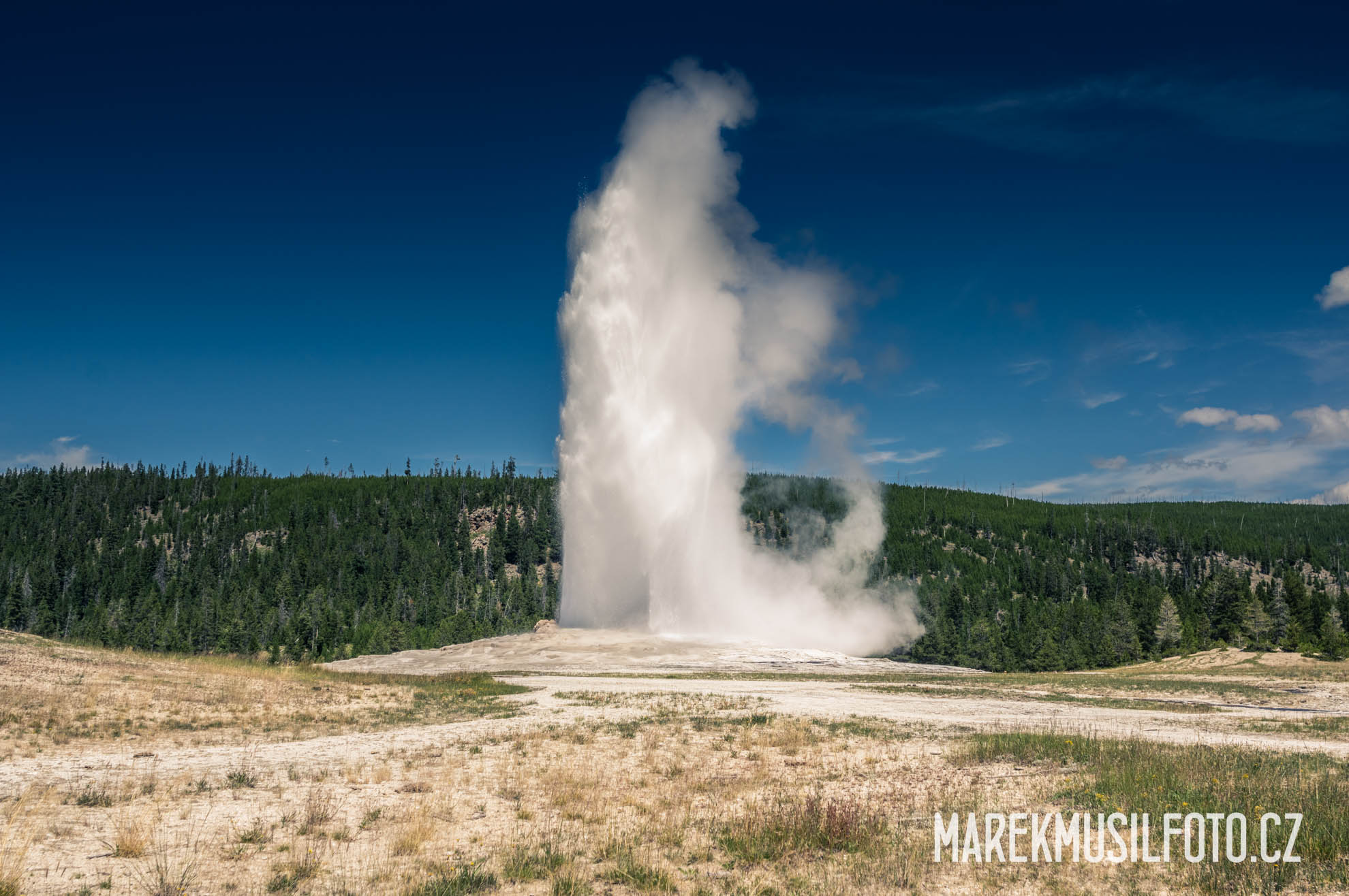 Cesta po USA - Yellowstone Old Faithful