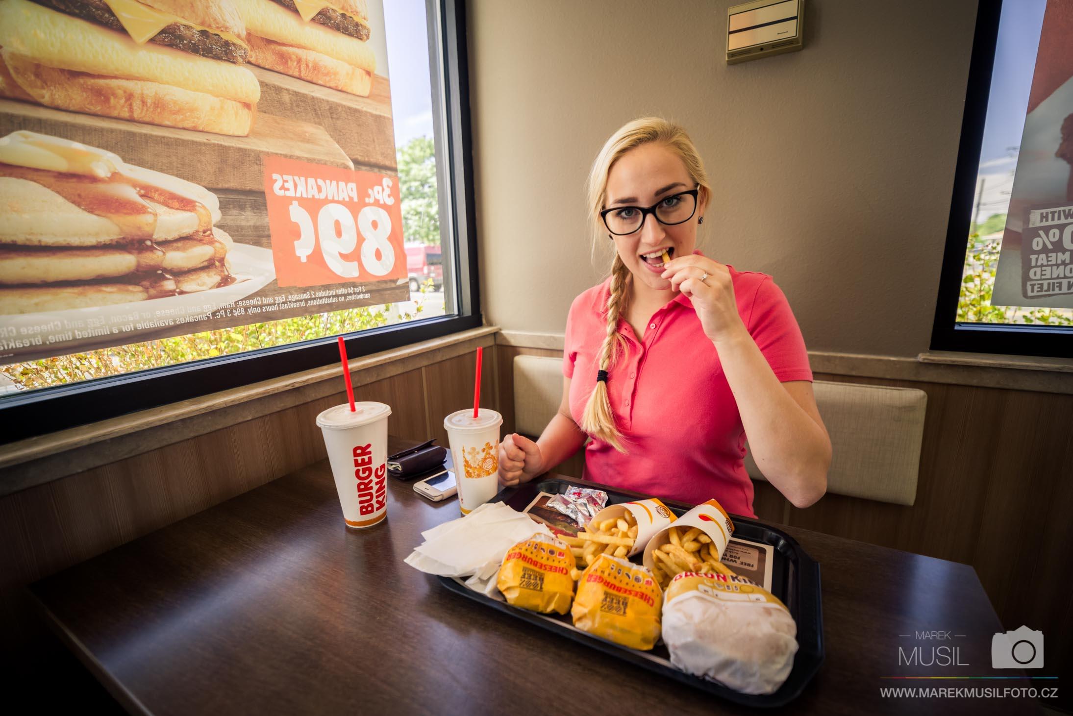 Burger King rychlé občerstvení.